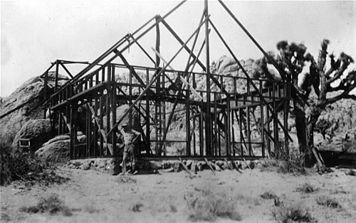 Construction of Kachina Hall, late 1920s